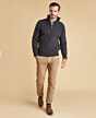 Barbour Essential Lambswool Half Zip Jumper Charcoal