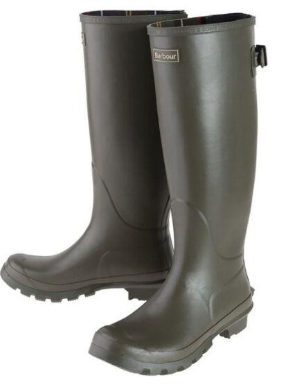 Barbour Womens Jarrow Wellington Boots Olive