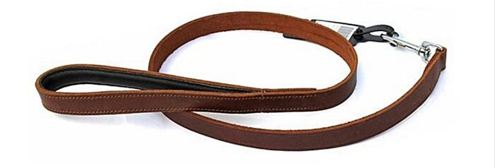 Miro & Makauri Leather Padded Lead Brown