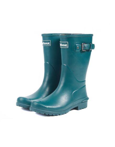 Barbour Primrose Dark Evergreen Wellington Boots