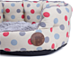 Petface Cream Polka Dot Oval Dog Bed