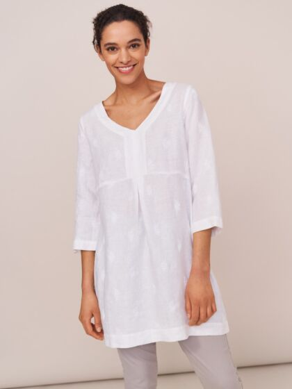 White Stuff Bailey Plain White Tunic