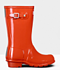 Hunter Kids Original Wellington Boots Gloss Orange