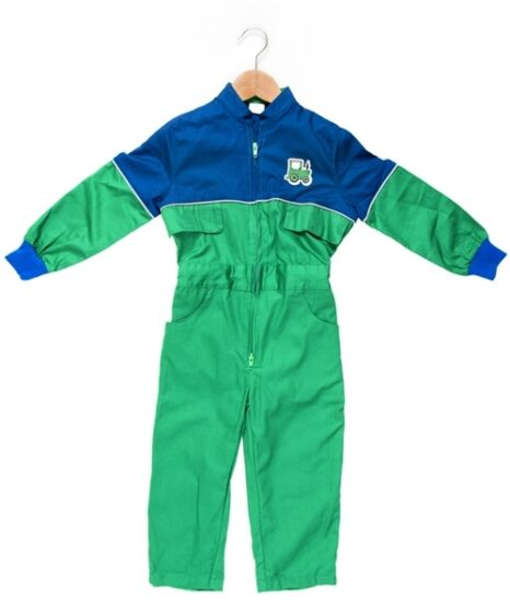 Tractor Ted Farm Overalls Green/Navy