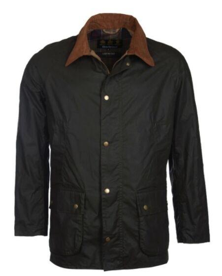 Barbour 4oz Lightweight Ashby Wax Jacket Dark Olive