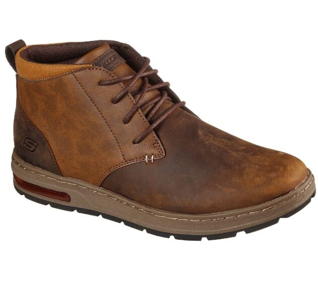 Skechers Evenston Lace Up Mid Boot Brown