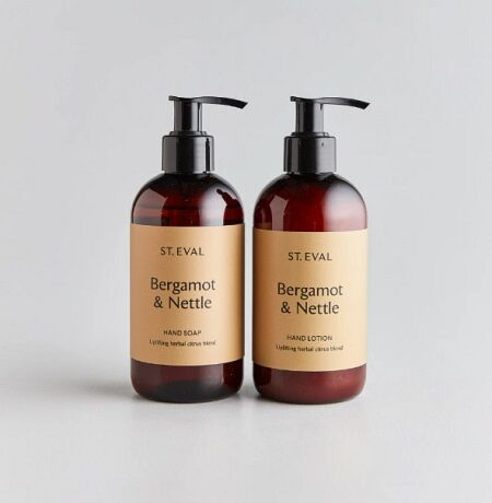 St Eval Hand Wash & Lotion Set Bergamot & Nettle