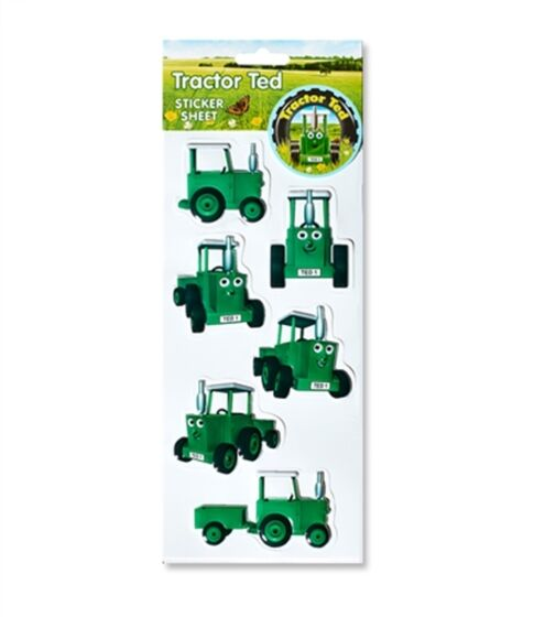 Tractor Ted 3D Bubble Stickers
