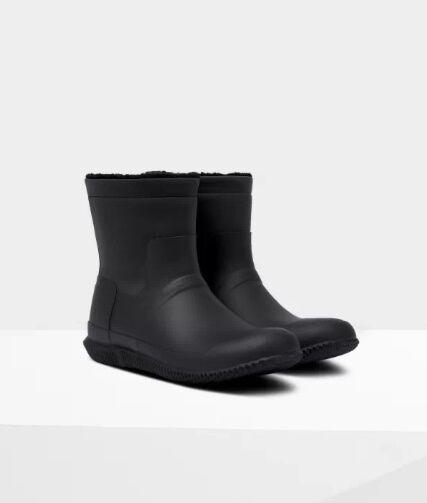 Hunter Men's Original Insulated Roll Top Boots Black