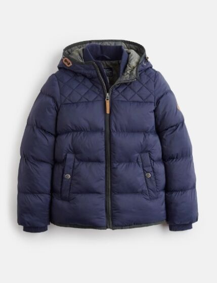Joules Boys Everett Wide Quilted Jacket Marine Navy