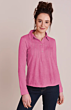 Mistral Ladder And Lace Pleat Packet Shirt Pink Flambe