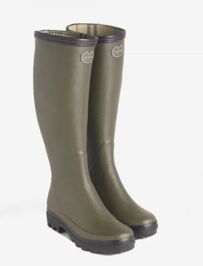 Le Chameau Women's Giverny Jersey Lined Boots Vert
