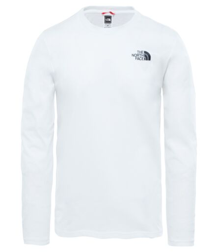 The North Face Mens Long Sleeve Easy Tee White