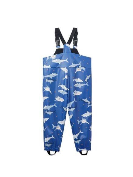Joules Splashwell Waterproof Dungarees Sharks