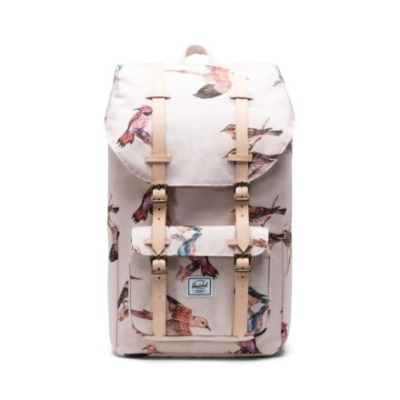 Herschel Little America Backpack Poly Natural Birds