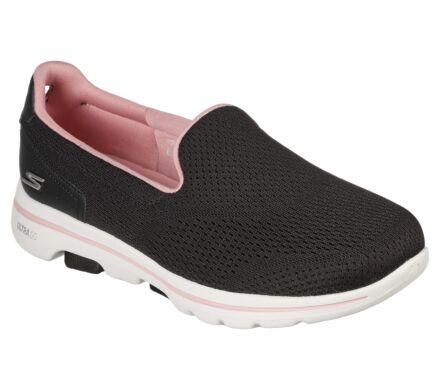 Skechers GoWalk 5 Ocean Sparkle Black/Light Pink