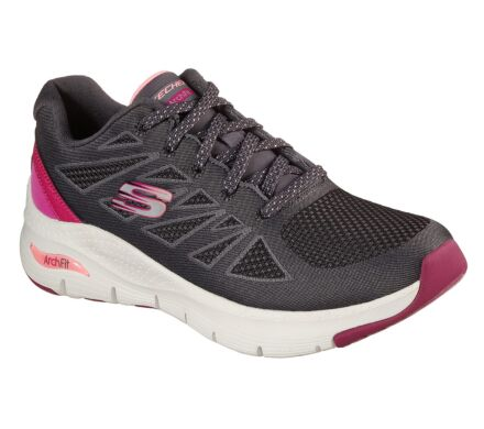 Skechers Arch Fit - She's Effortless Charcoal/Pink