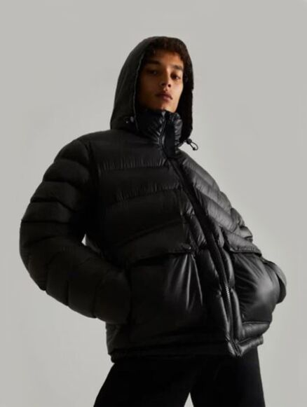 Hunter Men's Rubberised Puffer Jacket Black