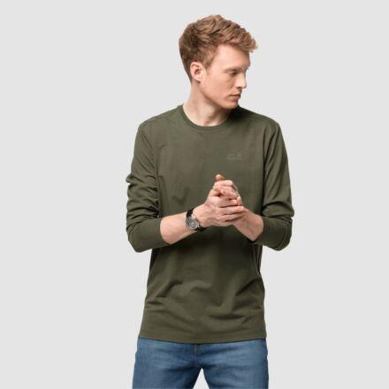 Jack Wolfskin Men's Essential Long Sleeve Tee Bonsai Green