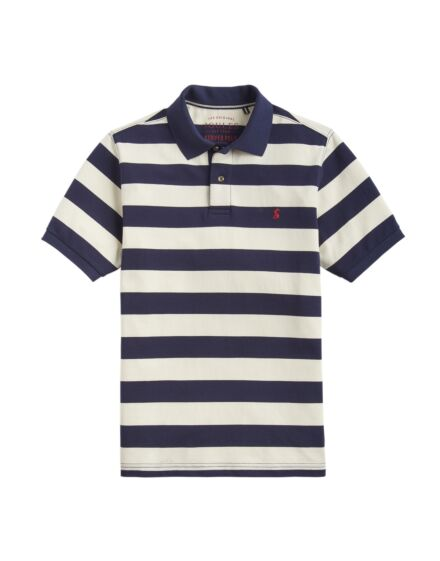 Joules Men's Filbert Striped Classic Fit Polo Navy Cream Stripe