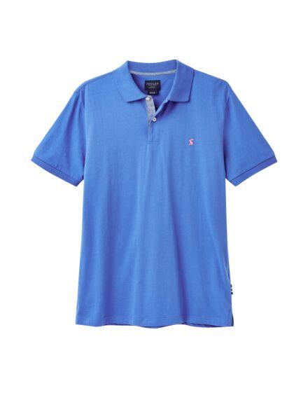 Joules Jersey Plain Polo Shirt Eton Blue