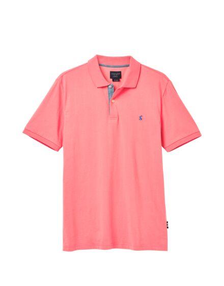 Joules Jersey Plain Polo Shirt Light Pink