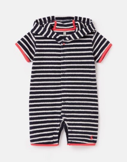 Joules Rockpooler Towelling Cover Up Navy White Stripe