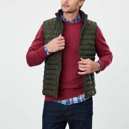 Joules Go To Lightweight Gilet Olive