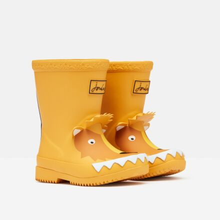 Joules Baby Printed Wellies Gold Lion