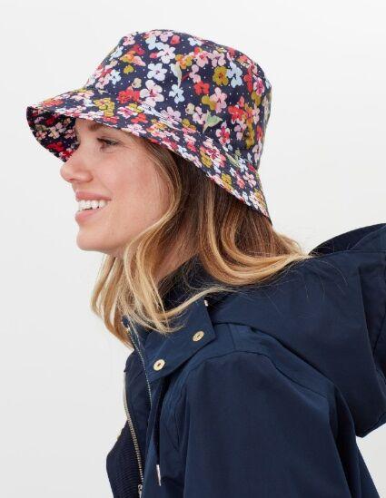 Joules Rainy Day Showerproof Hat Navy Blossom