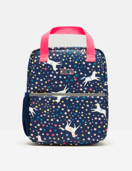 Joules Adventure Rubber Backpack Navy Unicorn