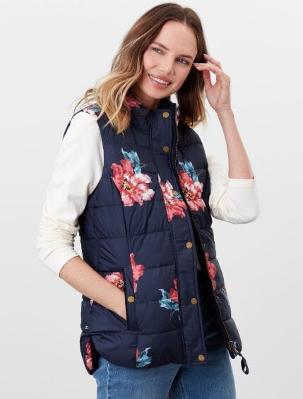 Joules Bridgeford Reversible Quilted Gilet Marine Navy