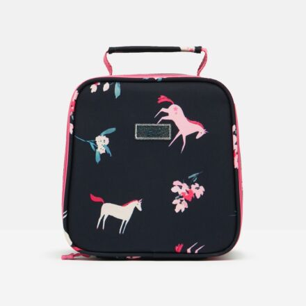 Joules Munch Lunch Bag Navy Unicorn Floral