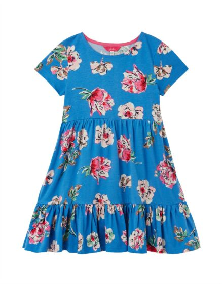Joules Evelyn Jersey Dress Blue Floral