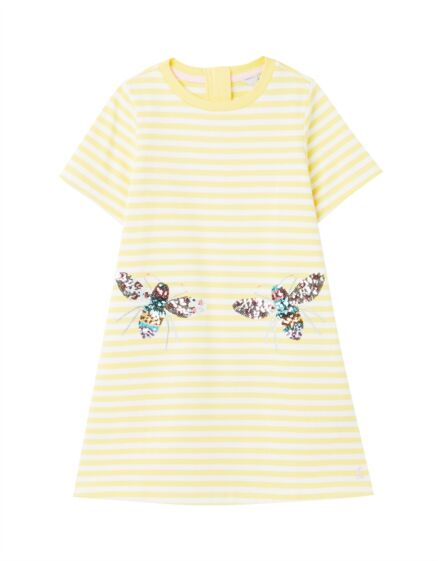 Joules Rosalee Short Sleeve Dress Yellow Bee