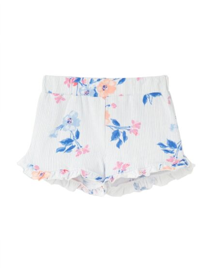 Joules Amara Jersey Shorts White Floral