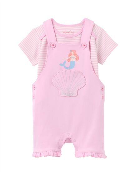 Joules Misha Dungaree Pink Mermaid