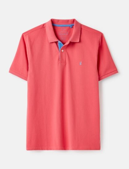 Joules Woody Classic Polo Shirt Pink