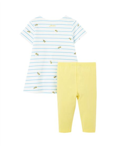 Joules Christina Dress Set Blue Stripe Bee