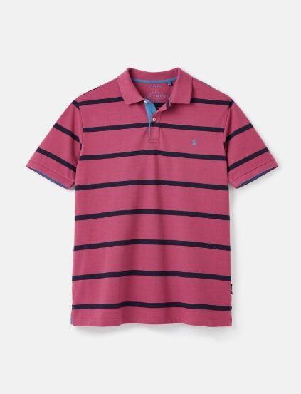 Joules Filbert Polo Shirt Purple Stripe