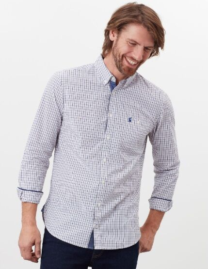 Joules Abbott Classic Fit Shirt Brown Check
