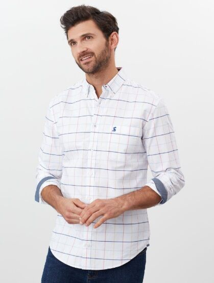 Joules Welford Long Sleeve Classic Shirt Multi Blue Check