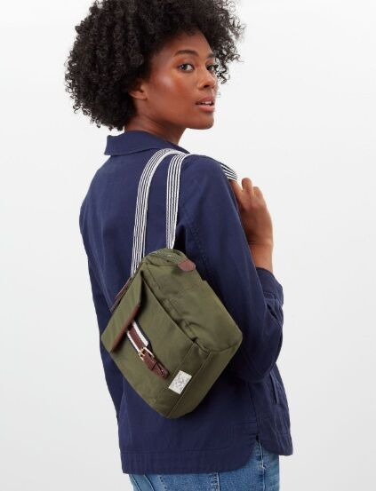 Joules Wells Cross Body Canvas Bag Khaki