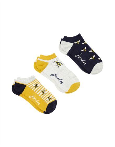 Joules Rilla Trainer Socks Bees