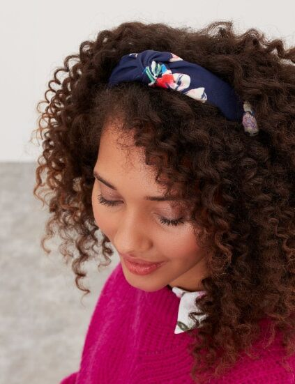 Joules Lovett Printed Headband Navy Multi Floral
