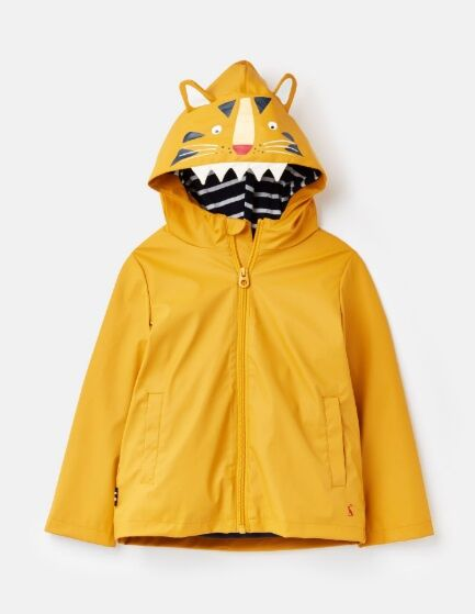 Joules Riverside Showerproof Rubber Coat Yellow Tiger