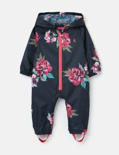 Joules Waterproof Puddlesuit Navy Floral