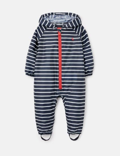 Joules Waterproof Puddlesuit Navy Cream Stripe