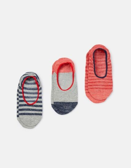 Joules Invisible Trainer Socks Melon Red