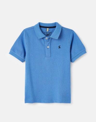 Joules Junior Woody Mini Me Polo Shirt Blue